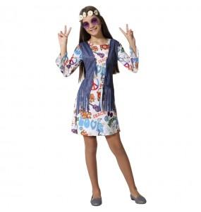Fato de Hippie Peace para menina