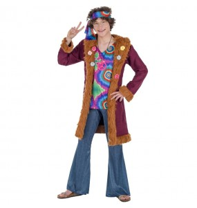 Disfarce Hippie Deluxe adulto divertidíssimo para qualquer ocasião