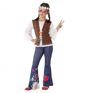 Disfarce Hippie anos Sessenta menina para que eles sejam com quem sempre sonharam