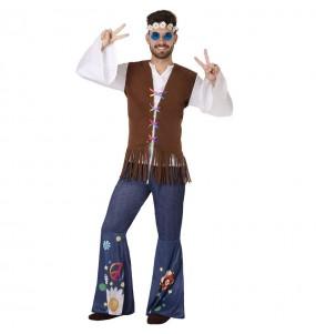 Disfarce Hippie anos Sessenta adulto divertidíssimo para qualquer ocasião