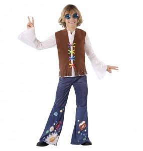 Disfarce Hippie anos Sessenta menino para deixar voar a sua imaginação