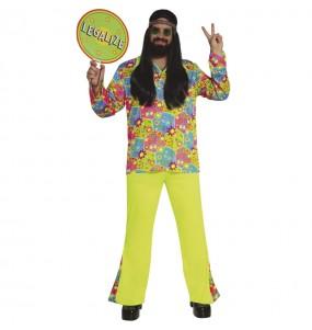 Fato de Hippie Flores para homem