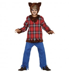 Disfarce Halloween Lobisomem para meninos para uma festa do terror