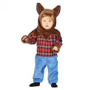Disfarce Halloween Homem Lobo com que o teu bebé ficará divertido