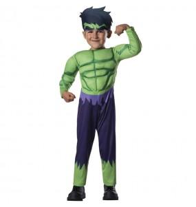 Disfarce Hulk Marvel bebé para deixar voar a sua imaginação