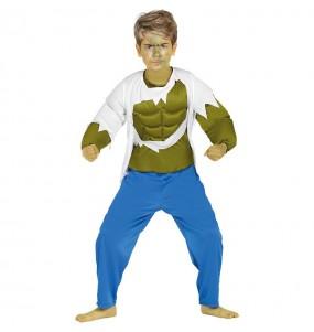 Disfarce Hulk menino para deixar voar a sua imagina??o