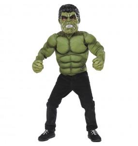 Fato de Hulk peito muscular para menino