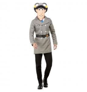 Fato de Inspector Gadget para homem