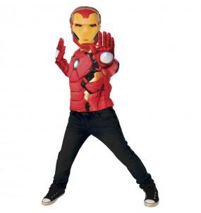 Fato de Iron Man peito muscular para menino