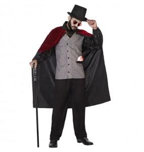 Fato de Jack, o Estripador adulto para a noite de Halloween