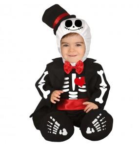 Disfarce Halloween Jack Skellington com que o teu bebé ficará divertido.
