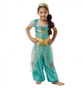 Disfarce Jasmine Princesa Aladim menina para que eles sejam com quem sempre sonharam