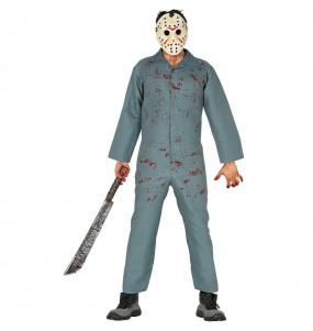 Fato de Jason Sexta-feira 13 adulto para a noite de Halloween