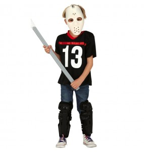 Disfarce Halloween Jason Voorhees Sexta-feira 13 para meninos para uma festa do terror