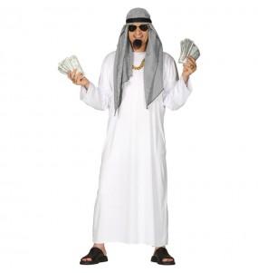 Disfarce Sheikh Árabe branco adulto divertidíssimo para qualquer ocasião