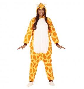 Disfarce japonês Girafa Africana Kigurumi adulto divertidíssimo para qualquer ocasião
