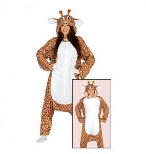Disfarce japonês Girafa Kigurumi adulto divertidíssimo para qualquer ocasião