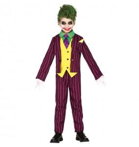 Disfarce Halloween Joker Arkham para meninos para uma festa do terror