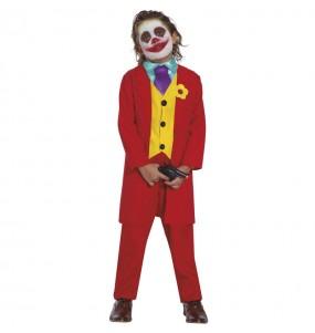 Disfarce Joker Joaquin Phoenix menino para deixar voar a sua imagina??o