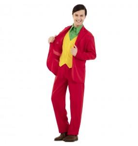 Fato de Joker Vermelho para homem