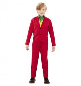 Fato de Joker Vermelho para menino