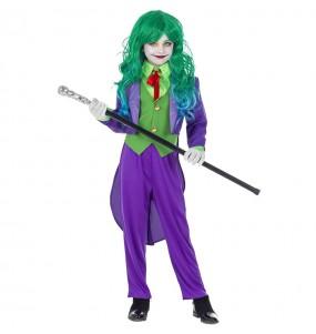 Disfarce Halloween Joker Vilã meninas para uma festa Halloween