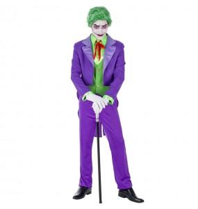 Fato de Joker Supervilão adulto para a noite de Halloween