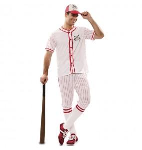 Fato de Jogador de Basebol Retro para homem