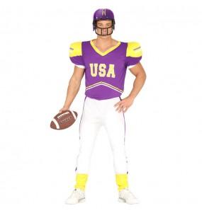 Disfarce Jogador de Futebol americano adulto divertidíssimo para qualquer ocasião