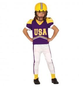 Disfarce Jogador de Futebol Americano menino para deixar voar a sua imaginação
