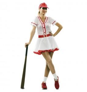 Fato de Jogadora de Basebol Retro para mulher