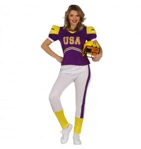 Fato de Jogadora de Football para mulher