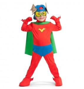 Fato Kid Fury dos SuperZings para crianças