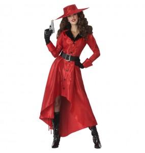 Fato de ladra Carmen Sandiego para mulher