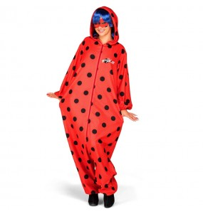 Disfarce japonês Ladybug Kigurumi adulto divertidíssimo para qualquer ocasião