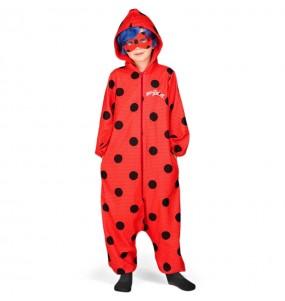 Disfarce japonês Ladybug Kigurumi criança para deixar voar a sua imaginação
