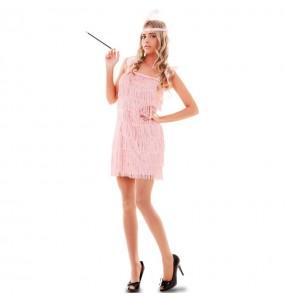 Disfarce original Charleston rosa mulher ao melhor preço