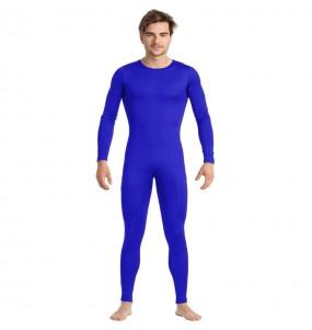 Fato de Maillot azul spandex para homem