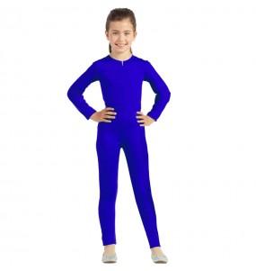 Fato de Maillot azul spandex para menina