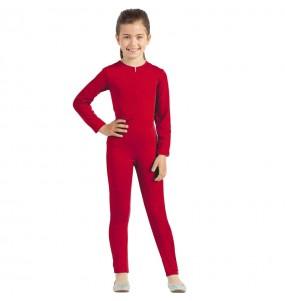 Fato de Maillot vermelho spandex para menina