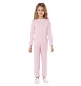 Fato de Maillot rosa spandex para crianças