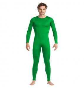 Fato de Maillot verde spandex para homem