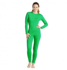 Fato de Maillot verde spandex para mulher