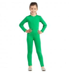 Fato de Maillot verde spandex para menina