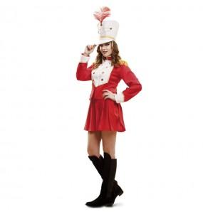 Disfarce original Majorette Vermelha mulher ao melhor preço
