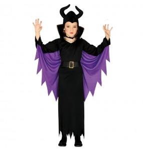 Disfarce Halloween Maléfica meninas para uma festa Halloween