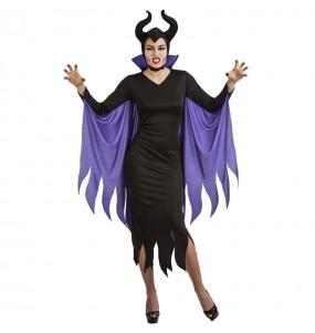 Fato de Maleficent sinistra para mulher