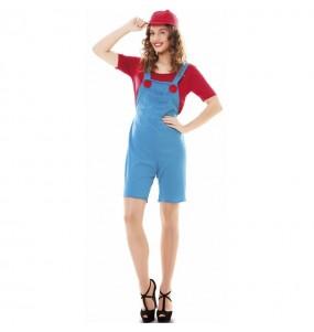 Fato de Super Mario para mulher