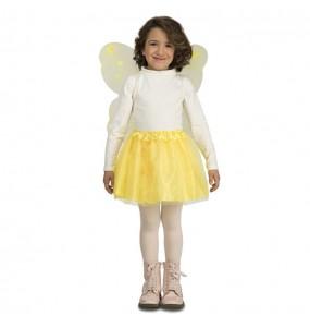 Disfarce Borboleta amarela menina para que eles sejam com quem sempre sonharam