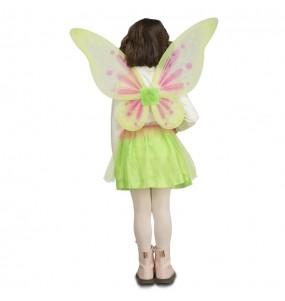 Disfarce Borboleta verde menina para que eles sejam com quem sempre sonharam